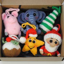 Набор новогодних елочных игрушек