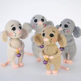 Амигуруми Вязаная мышка