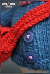Crochet bear postman