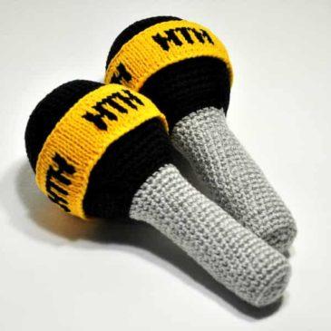 Crochet TV microphones
