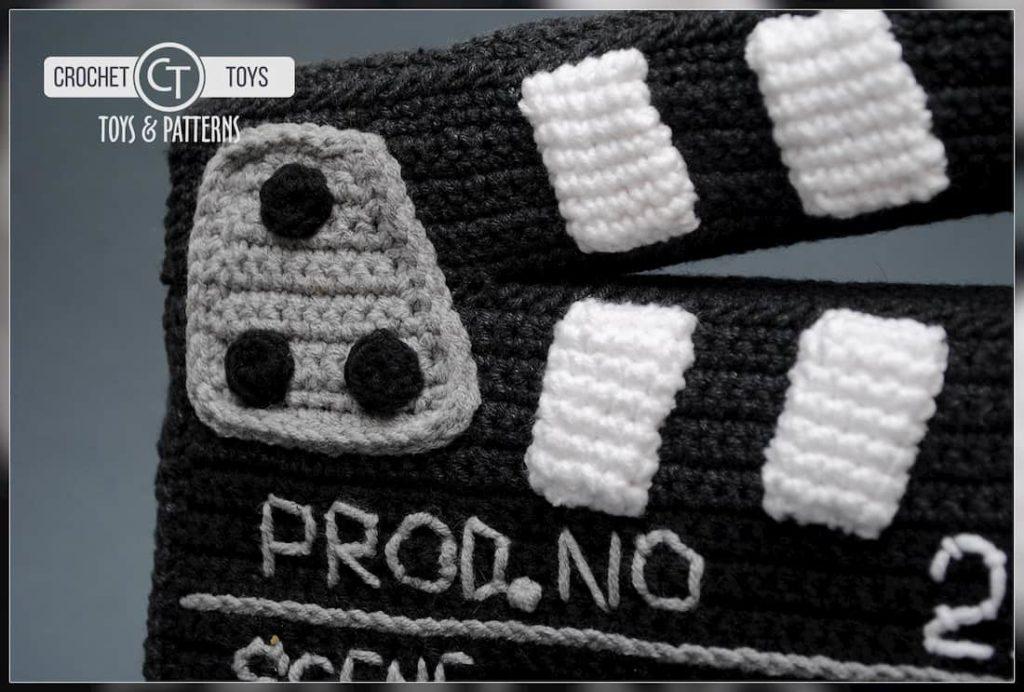 Crochet movie clapboard