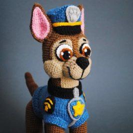 Crochet dog paw patrol Chase