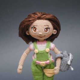 Crochet doll with dog