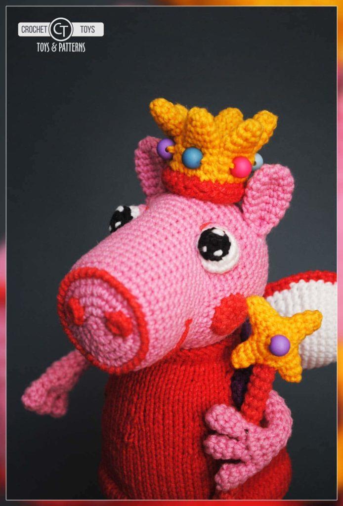 вязаная свинка пеппа Crochet Toys