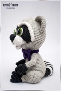 Crochet raccoon