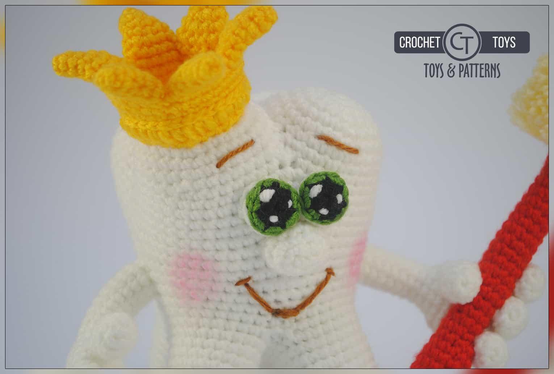 Ravelry: Crochet Amigurumi Tooth pattern by Lisa Eberhart | 1034x1530