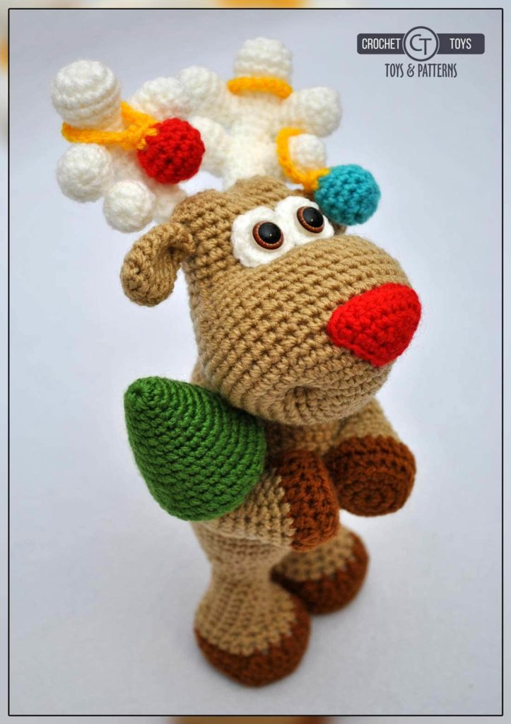 Crochet christmas deer
