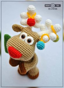 Crochet christmas deer