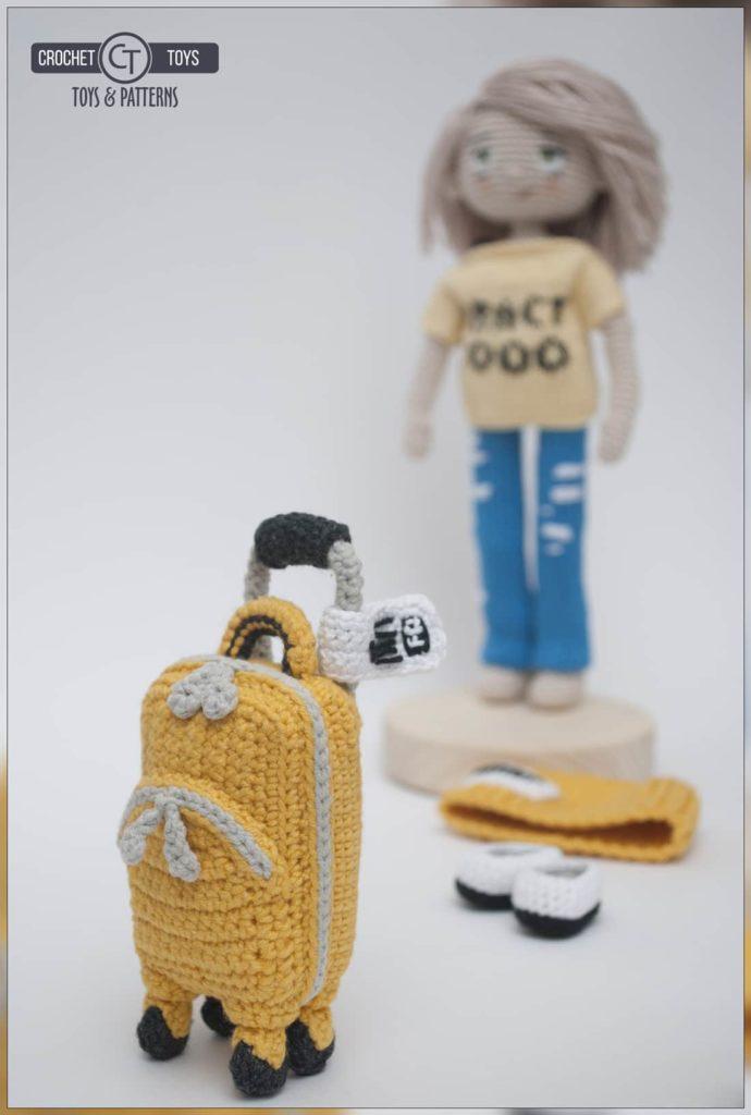 Crochet doll tourist