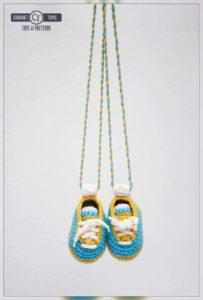 Crochet football boots