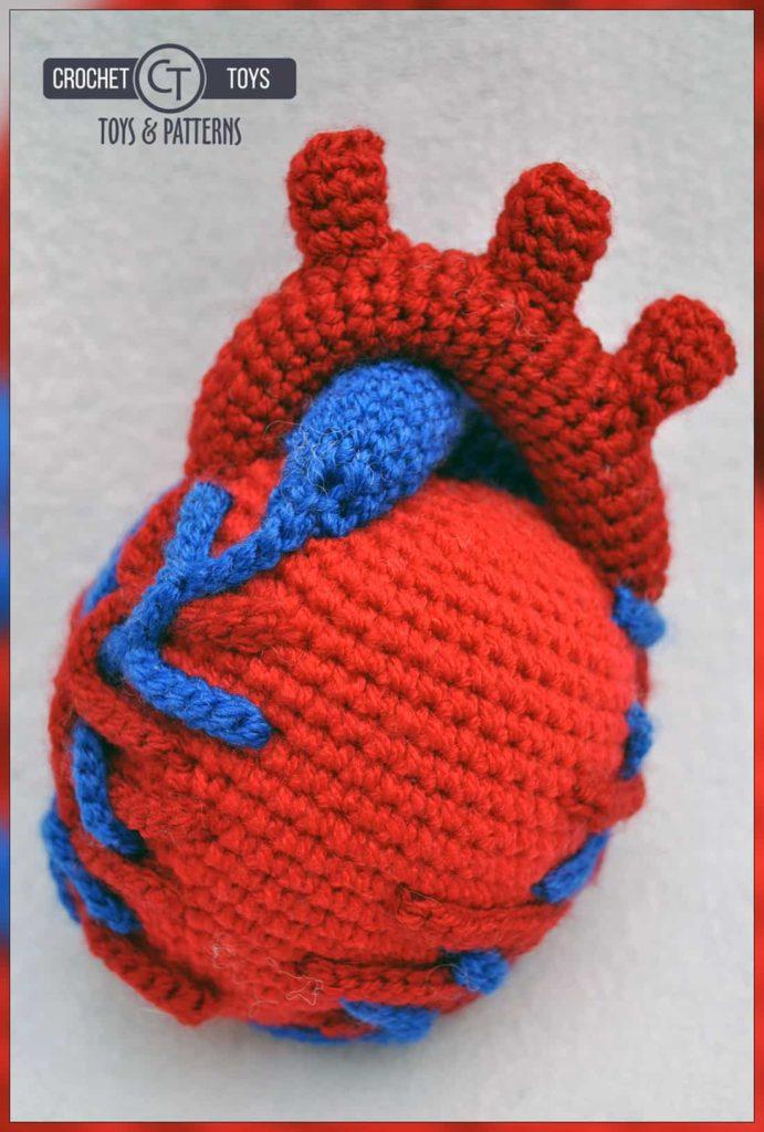 Crochet Anatomical Heart