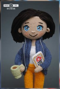 Crochet doll Traveler
