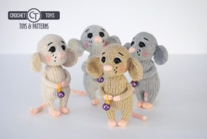 Amigurumi Knitted Mouse