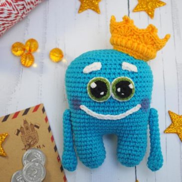 Crochet pattern Tooth with the pocket