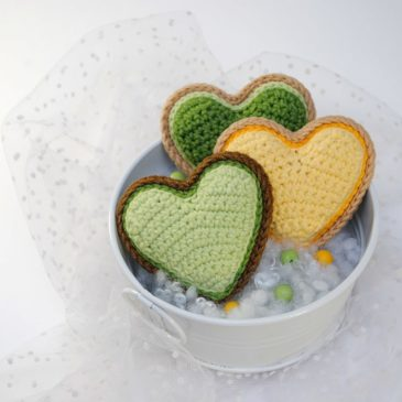 Crochet Pattern Valentine's Day Cookies