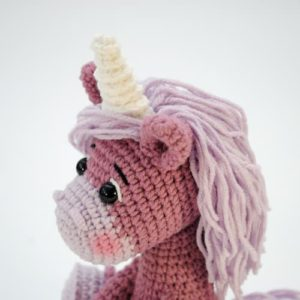 Amigurumi crochet unicorn