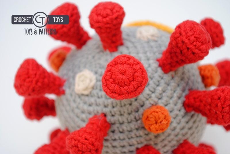 Вязаный коронавирус COVID-19