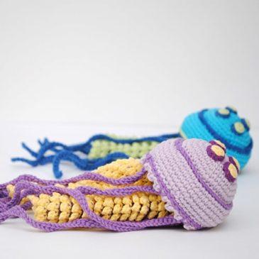 Amigurumi crochet jellyfish