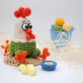 Amigurumi Crochet chicken
