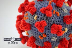 Crochet coronavirus covid