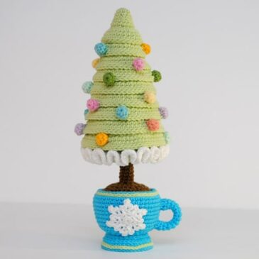 Crochet Christmas Tree in a Cup